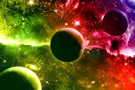 Photo pour Universe galaxy nebula stars and planets - image libre de droit