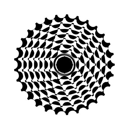 Illustration pour vector illustration bike cassette on a white background - image libre de droit