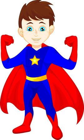 Ilustración de Super hero boy posing - Imagen libre de derechos