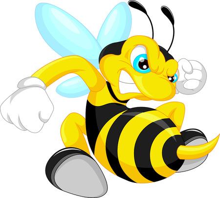Illustrazione per angry bee cartoon - Immagini Royalty Free