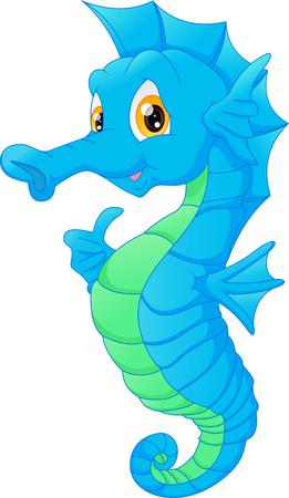 Foto de Cute seahorse cartoon - Imagen libre de derechos