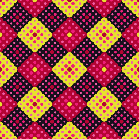 Illustration for Seamless background with abstract geometric pattern.Textile rapport. - Royalty Free Image
