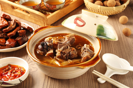 Photo for The delicious traditional mutton hot pot. - Royalty Free Image