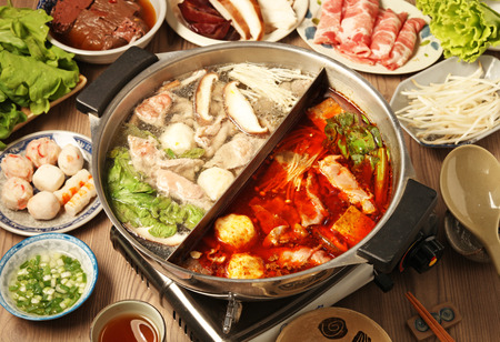 Photo for double flavor hot pot - Royalty Free Image