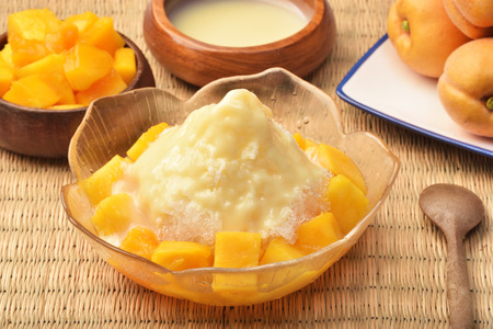 Photo for Shaved ice dessert with fresh mango - Royalty Free Image