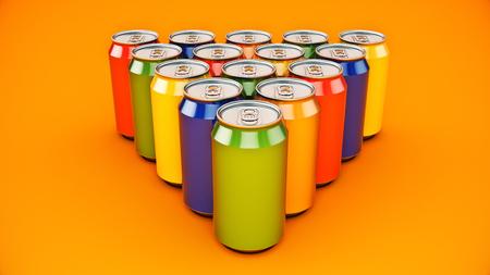 Foto de aluminum can isolated. 3d rendering - Imagen libre de derechos
