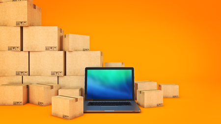 Foto per Shipping and logistics concept. 3d rendering - Immagine Royalty Free