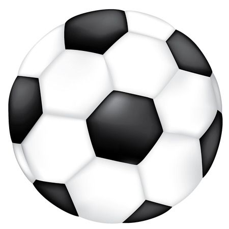 Ilustración de Object illustration sporting goods soccer ball. Ideal for catalogs, informative and sporting catalogs - Imagen libre de derechos
