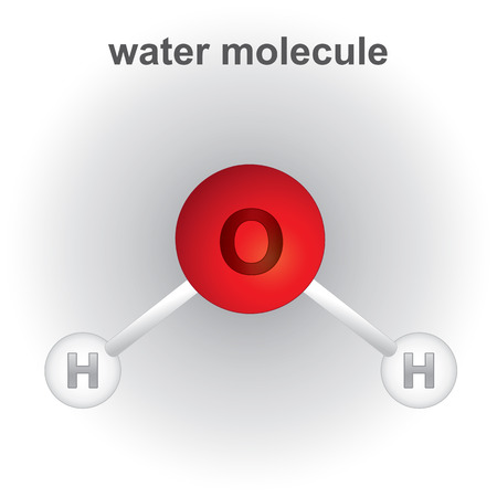 Illustration pour Illustration representing structure and composition of the water molecule chemical. ideal for educational books and institutional materials - image libre de droit