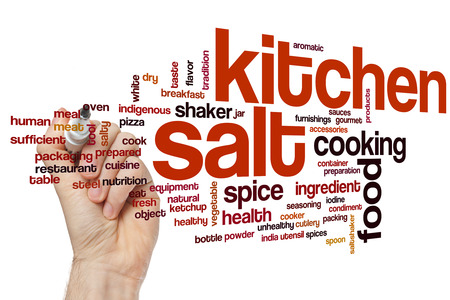 Kitchen salt concept word cloud background