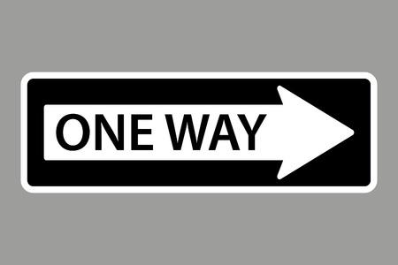 Illustration pour One Way Sign - image libre de droit