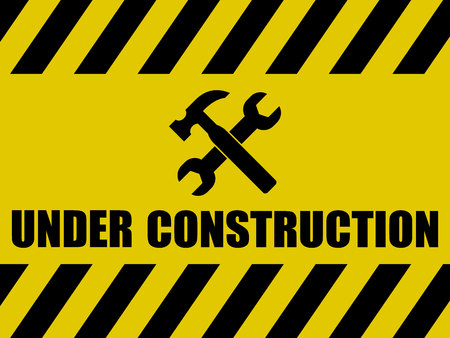 Photo pour Under Construction Background - image libre de droit