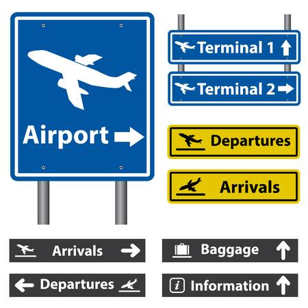 Ilustración de Airport Signs - Imagen libre de derechos