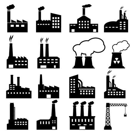 Ilustración de Factory Icons - Imagen libre de derechos