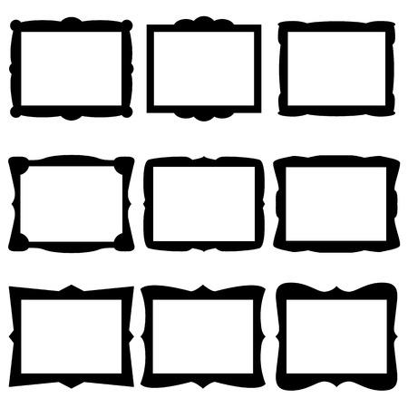Illustration pour Frame Icons - image libre de droit