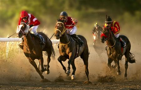 Photo pour A racing day on the Belgrade hippodrome - image libre de droit