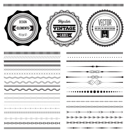 Ilustración de Big set of vector dividers for web design - Imagen libre de derechos
