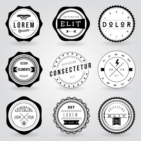 Illustrazione per Set of hipster vintage retro labels - Immagini Royalty Free
