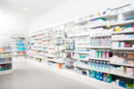 Photo for Products arranged in shelves at pharmacy - Royalty Free Image