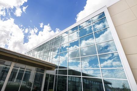 Photo pour Modern Hospital Building With Glass Windows - image libre de droit