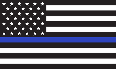 Illustration pour Vector American Police Flag - image libre de droit