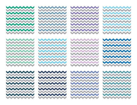 Illustration for Vector Chevron patterns set for print, gift, web, scrap and patchwork. - Royalty Free Image