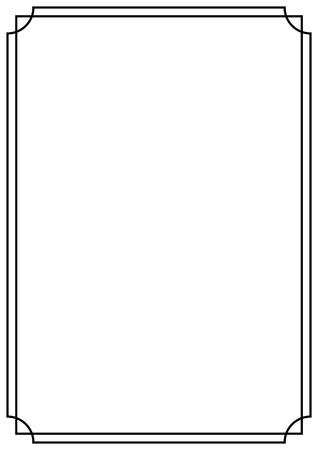 Illustration pour A4 paper design vintage style page border - image libre de droit