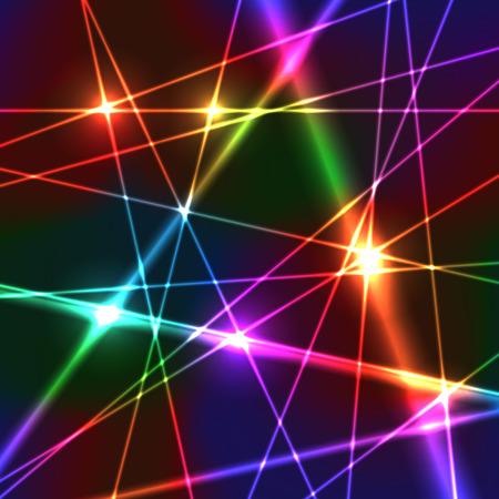 Illustration pour Neon Shiny Bright Rainbow Colors Laser Background - image libre de droit