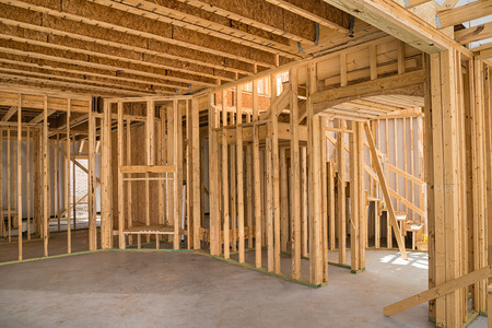 Photo for New residential construction home framing  - Royalty Free Image