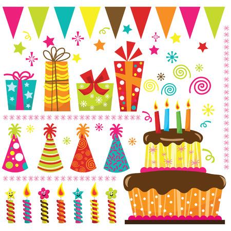 Ilustración de Birthday Party Elements - Imagen libre de derechos