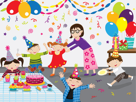 Illustration for Birthday Party - Royalty Free Image
