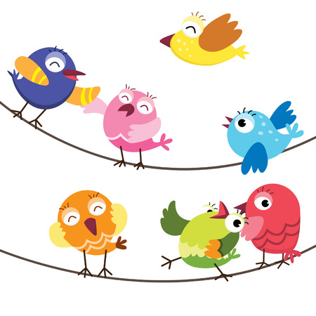 Illustration pour Cute Birds - image libre de droit