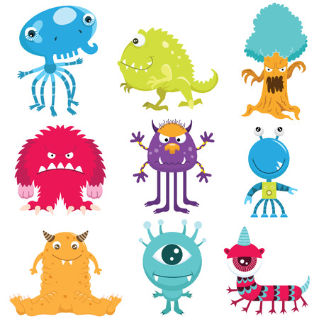 Ilustración de Cute Monster Collection Set - Imagen libre de derechos