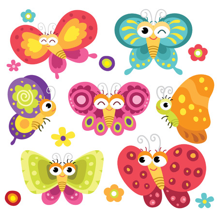 Foto per Cute and Colorful Butterflies - Immagine Royalty Free
