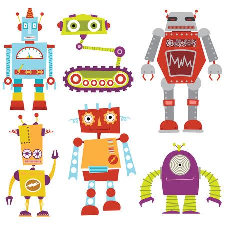 Illustration pour Robot Set - image libre de droit