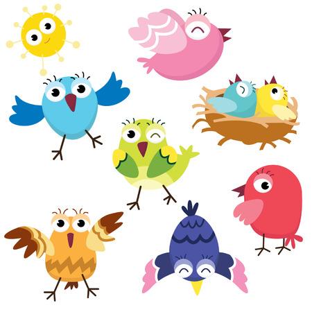 Illustration pour Birds - image libre de droit