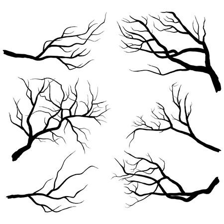 Ilustración de Branch Silhouettes - Imagen libre de derechos