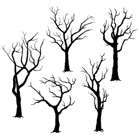 Ilustración de Tree Silhouettes - Imagen libre de derechos