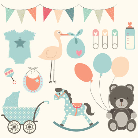 Photo pour Baby Shower Elements - image libre de droit