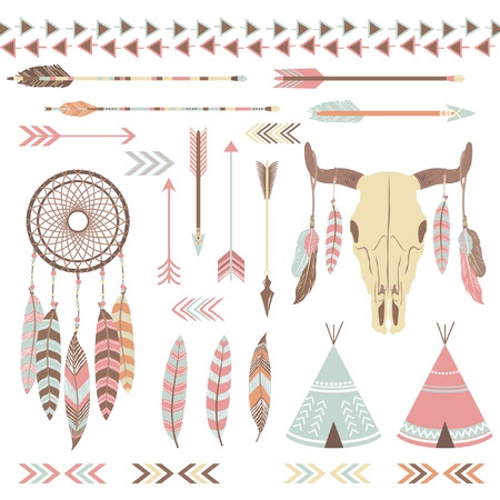 Illustration for Tribal Indian Elements - Royalty Free Image