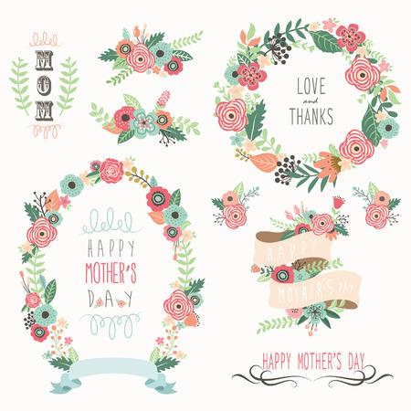 Illustration pour Happy Mother's Day Elements - image libre de droit