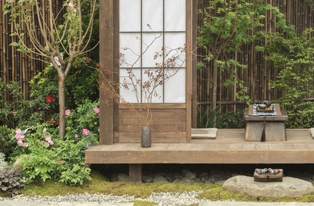 Photo for Japanese house and garden - Royalty Free Image