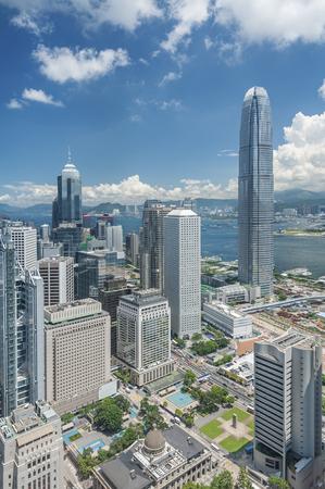 Photo pour Aerial View of Hong Kong City - image libre de droit