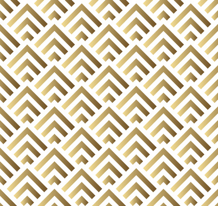 Illustration pour Vector seamless pattern. Modern stylish square texture. Gold and white seamless geometric pattern - image libre de droit