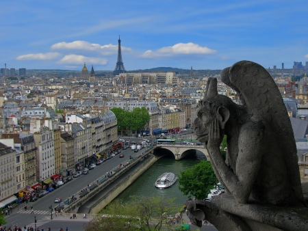 A gargoyle s view of Paris a mural