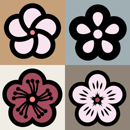 Plum blossom flower pattern symbol
