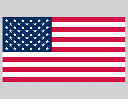 Vector illustration of the American Flag. Accurate proportions.