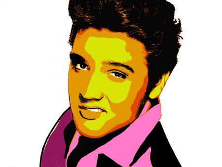 Photo for Editorial Illustration of Elvis Presley - Royalty Free Image