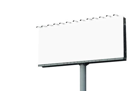 Foto de blank billboard for advertisement isolated on white background - Imagen libre de derechos