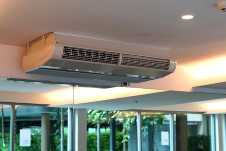Photo pour indoor unit of air conditioner, fan coil unit - image libre de droit